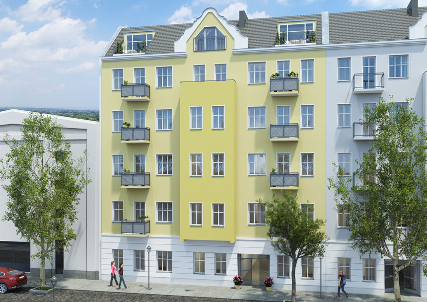 Architekturvisualisierung Berlin altbausanierung visualisierung 3d agentur berlin