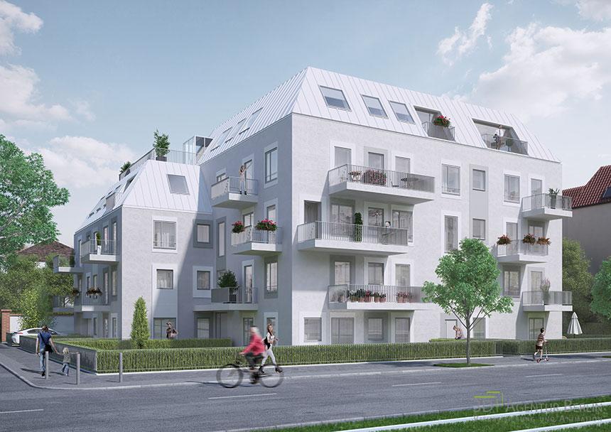 multi family house 3d visualization berlin karlshorst 3d agentur berlin. Black Bedroom Furniture Sets. Home Design Ideas