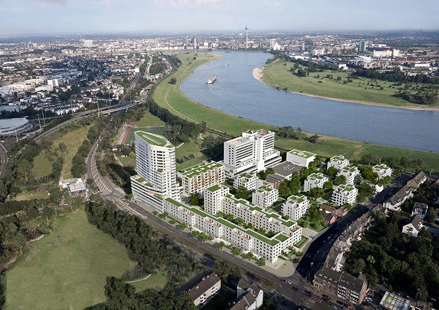 D sseldorf luftbild neubaugebiet 3d agentur berlin - Architekturvisualisierung berlin ...