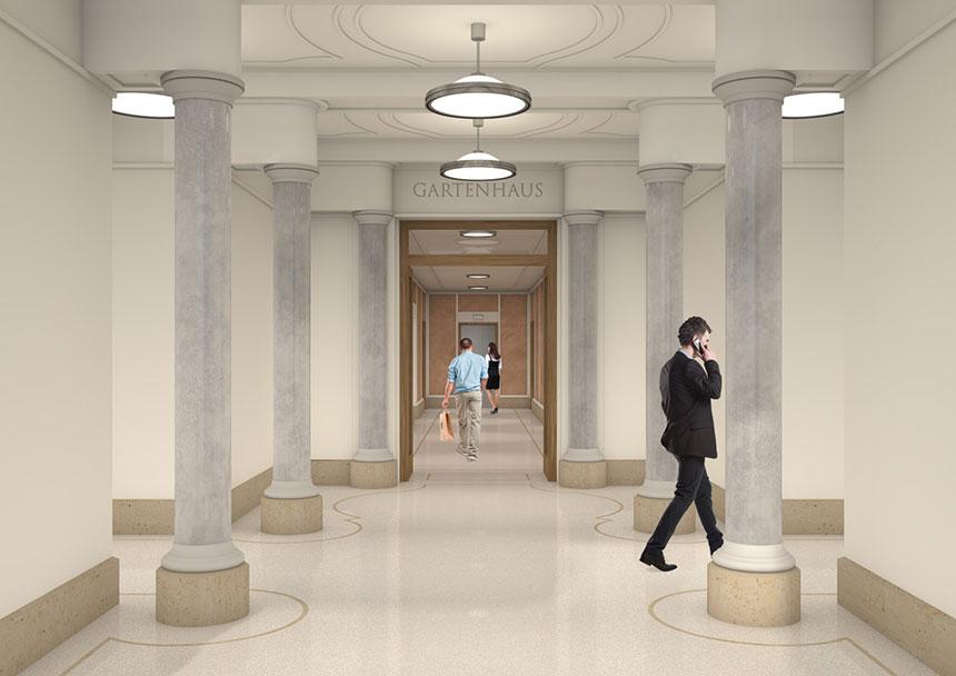 katharinenpalais eingang 3d innenraumvisualisierung 3d agentur berlin. Black Bedroom Furniture Sets. Home Design Ideas