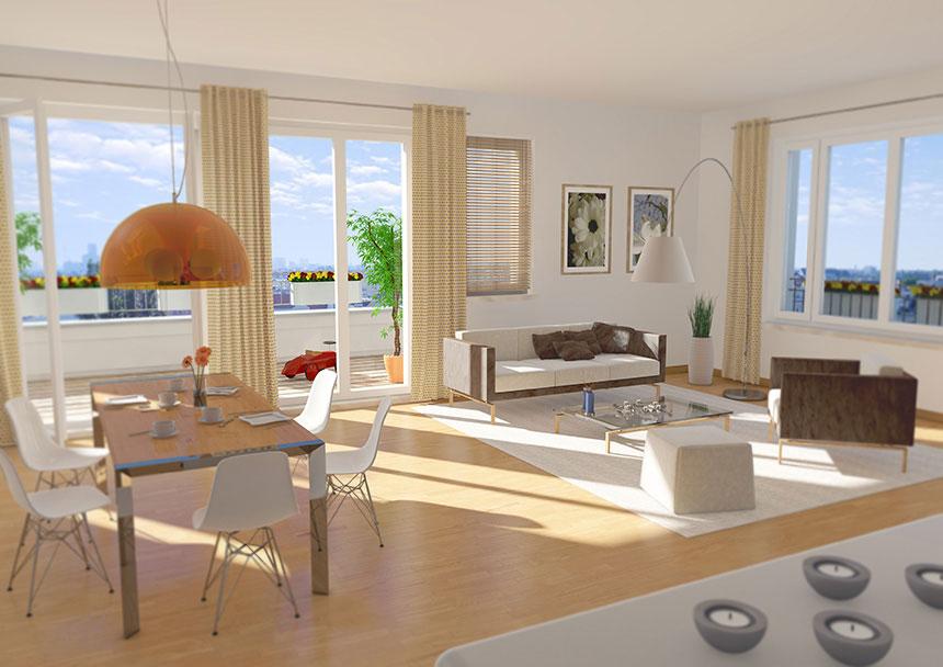 Katharinenpalais wohnung 3d innenraumvisualisierung 3d for Innenraum design berlin