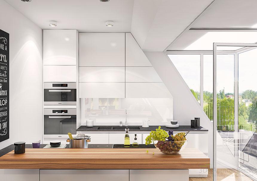 3d kitchen visualization 3d agentur berlin for Innenraum design berlin