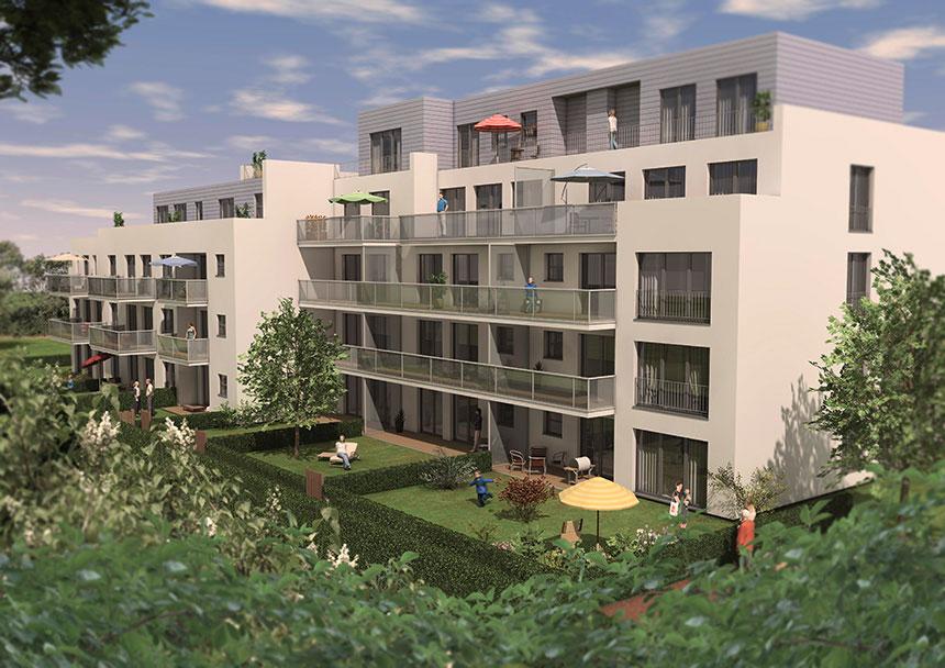 3d Architekturvisualisierung lindenpark 3d architecture visualization garden view 02 3d agentur