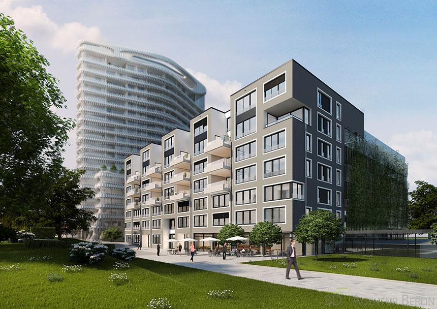 D sseldorf tower innenhof 3d agentur berlin - Architekturvisualisierung berlin ...