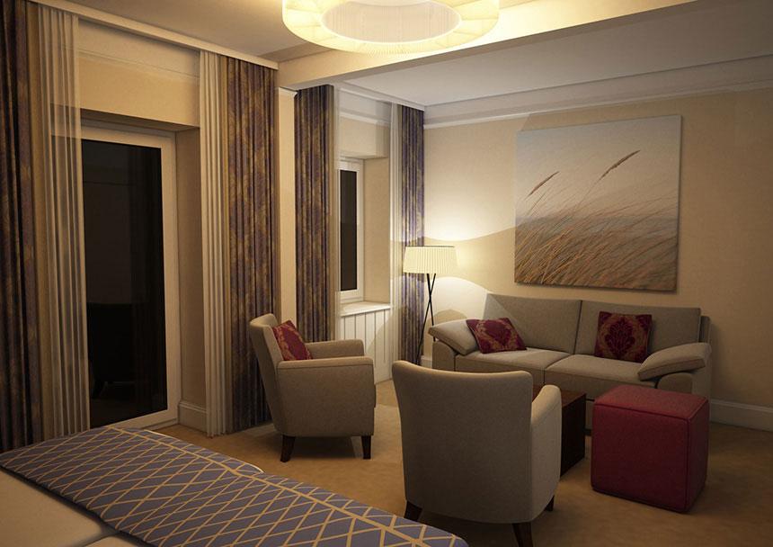 hotel achterdiek abendstimmung 3d innenraumvisualisierung 04 3d agentur berlin. Black Bedroom Furniture Sets. Home Design Ideas