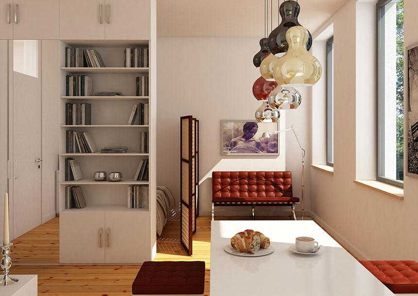 apartment 3d interior visualization 01 3d agentur berlin. Black Bedroom Furniture Sets. Home Design Ideas