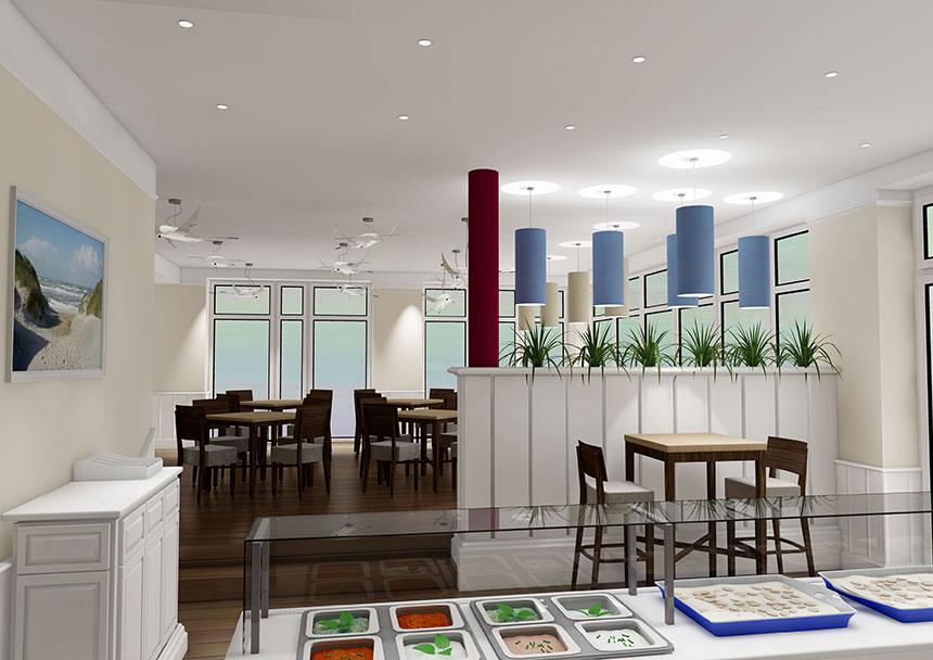 Restaurant matjes 3d interior visualization 02 3d agentur berlin - Design agentur berlin ...