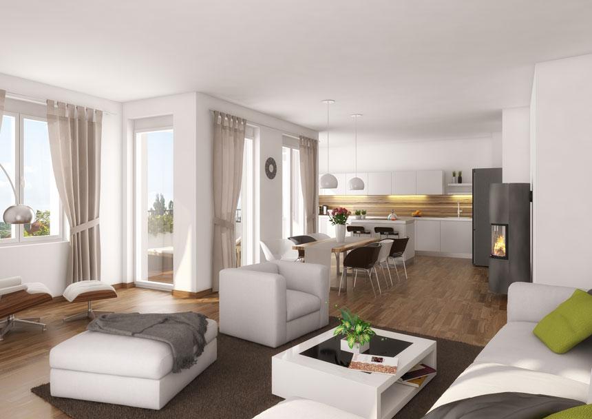 3d innenraumvisualisierung suarezstra e wohnbereich 3d agentur berlin. Black Bedroom Furniture Sets. Home Design Ideas