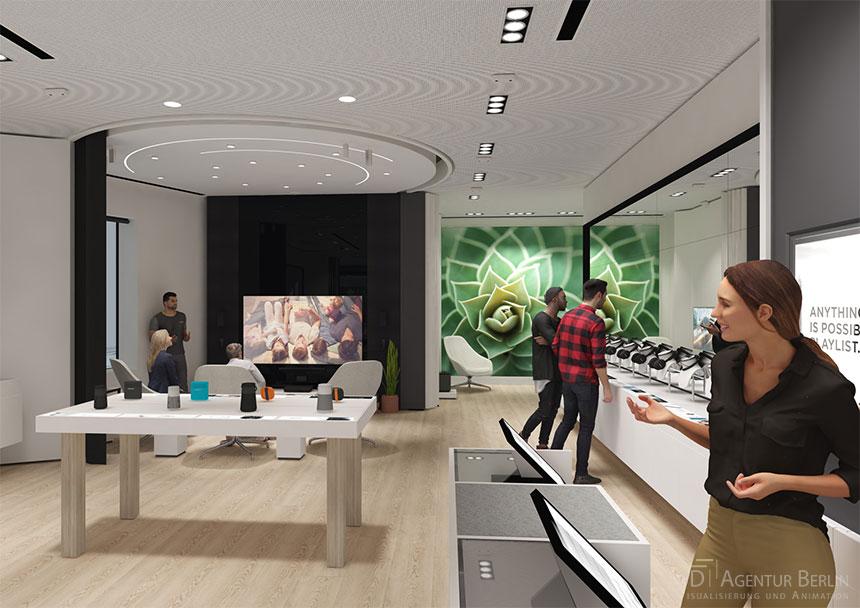 Shop 3d visualization bose london regent street flagship store 3d agentur berlin - Design agentur berlin ...
