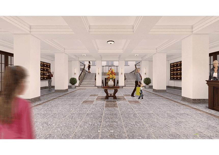 das wei e haus foyer 3d agentur berlin. Black Bedroom Furniture Sets. Home Design Ideas